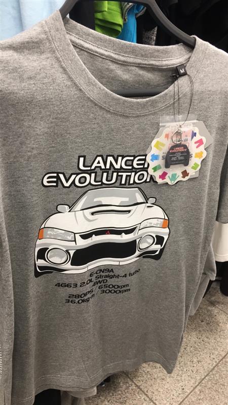 ファッションセンター しまむら LANCER EVOLUTION Ⅳ Tシャツ