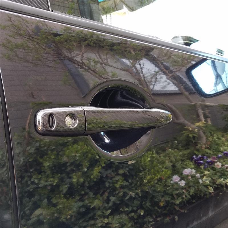 AUTO FLAGS X4X ドアハンドルカバー カーボン調