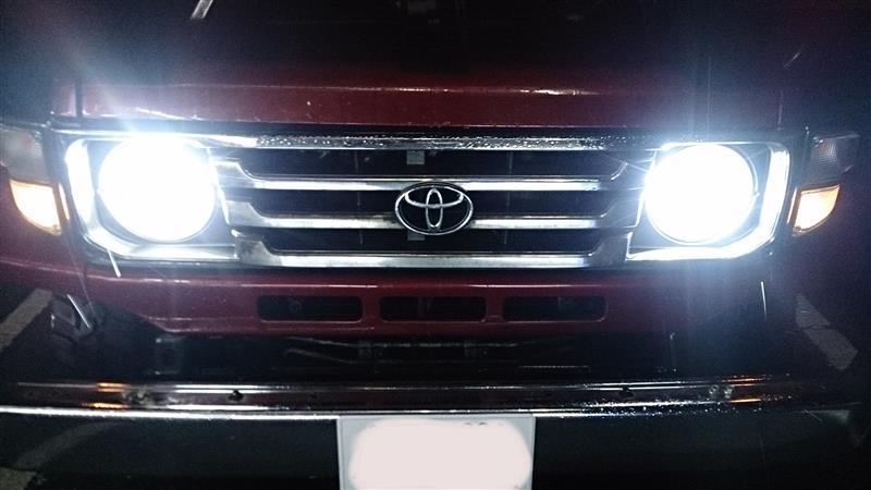 DieselAuto H4 Led ヘッドライト50W (25W x2) 8000lm (4000lm x2) 6500K Hi/Lo切替 CSPチップ搭載 一体式