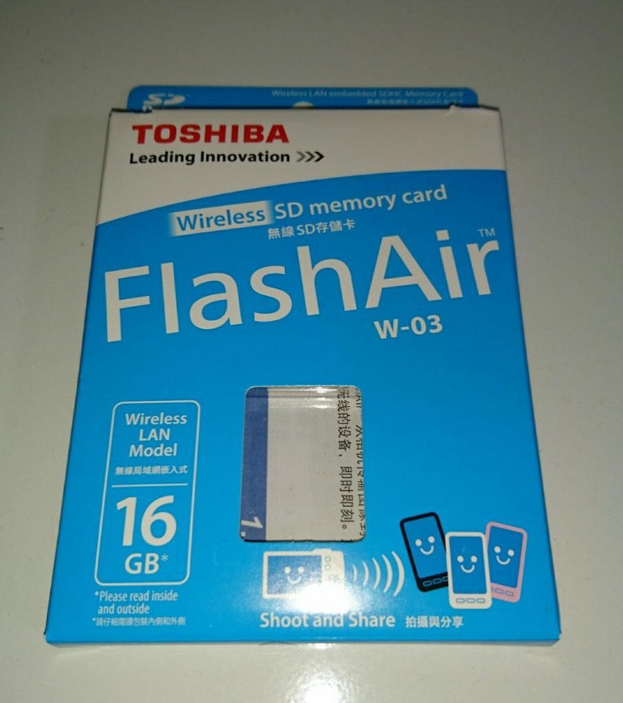 TOSHIBA FlashAir 無線LAN内蔵SDカード