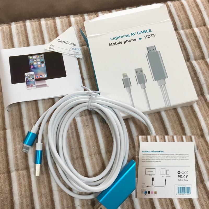 不明 中華製 Lightning AV CABLE
