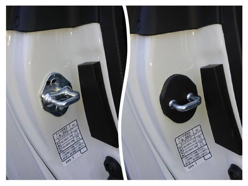 不明 カーボン柄 ドアロックカバー 4Pセット