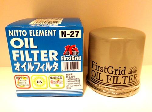 日東工業 ファーストグリッド オイルフィルター N-27