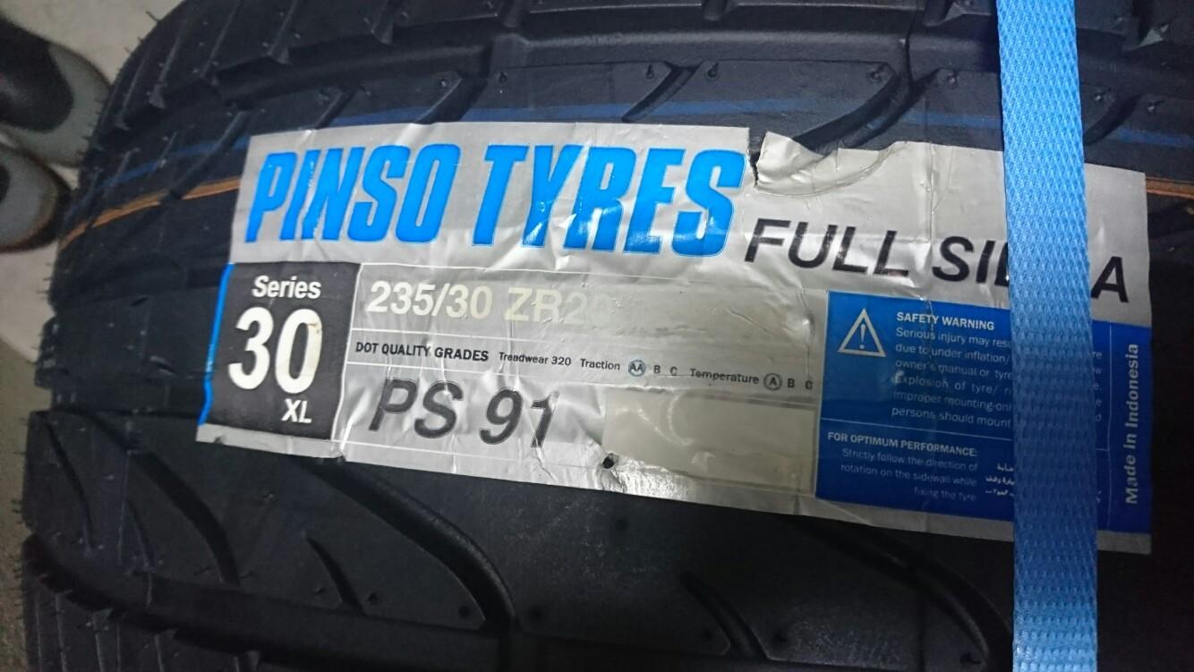 インドネシアタイヤメーカー Pinso Tyres PS-91 235/30R20