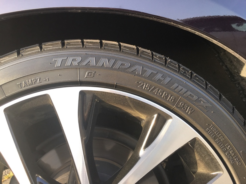 TOYO TIRES TRANPATH mpZ 215/45R18