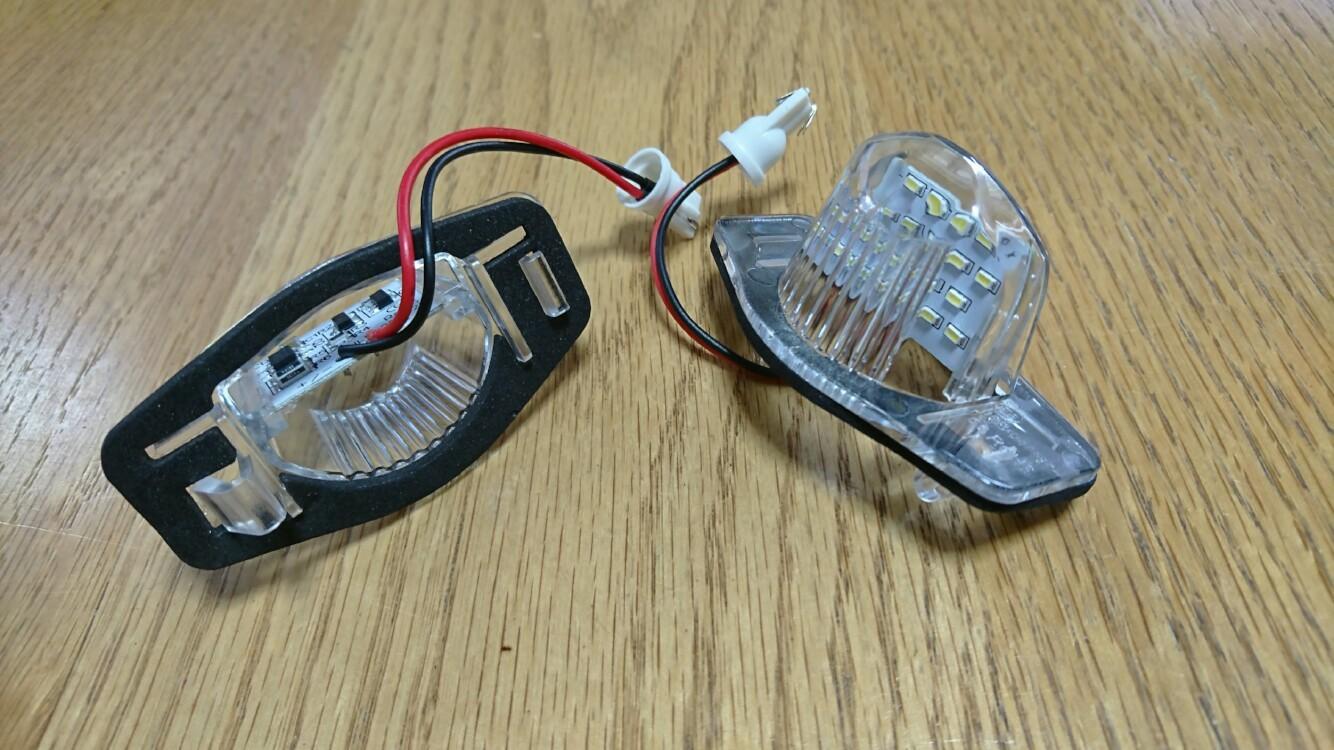 不明 LEDナンバー灯