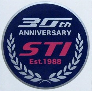 オリジナル STI創立30周年記念ステッカー
