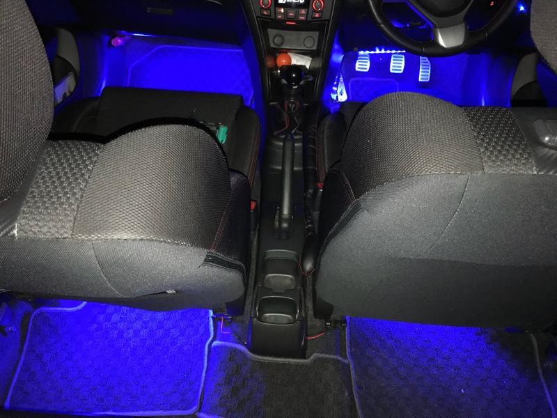 不明 LEDフットランプ 青