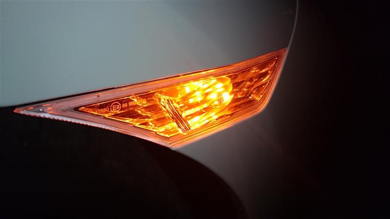 まめ電 T10 LED オレンジ アンバー 5050 3チップ 5連SMD ポジション ナンバー ルームランプ(ウェッジ シングル)