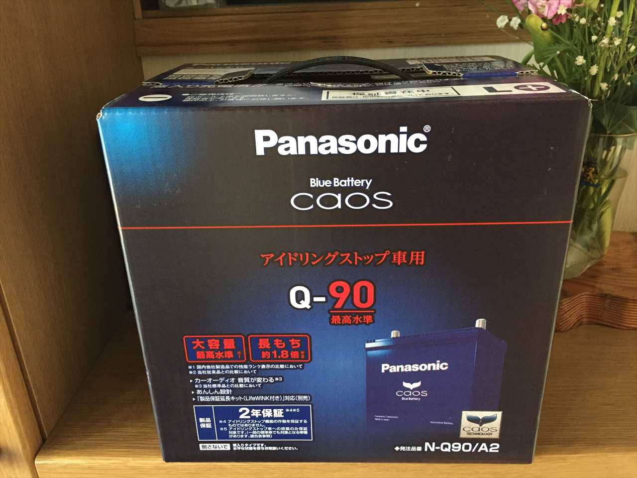 Panasonic Blue Battery caos N-Q90/A2