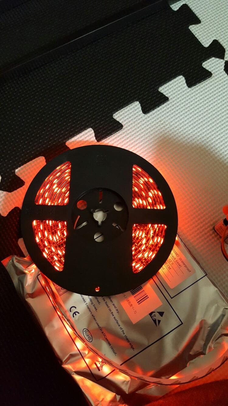 メーカー不明 LEDテープ レッド 5M