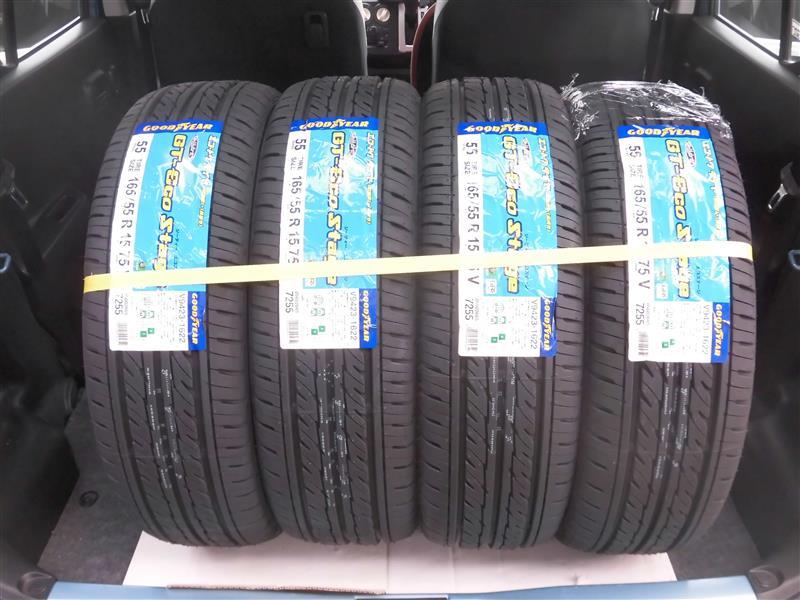 グットイヤー GT-エコステージ  165/55 R  15
