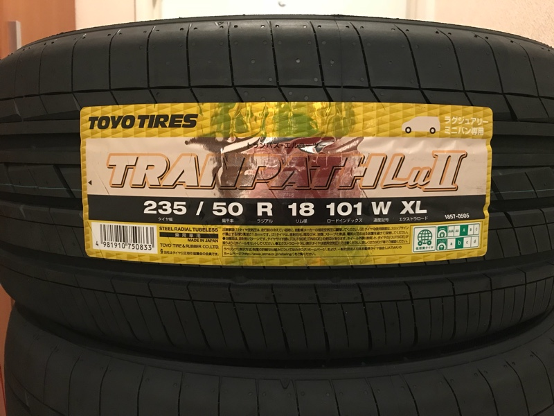 TOYO TIRES TRANPATH LuⅡ 235/50R18