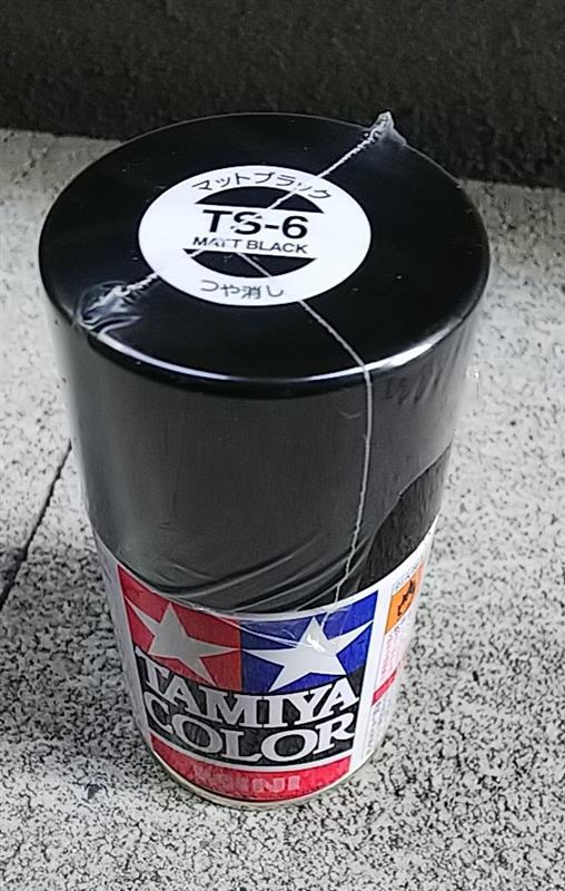 TAMIYA カラーミニ TS-6 マットブラック