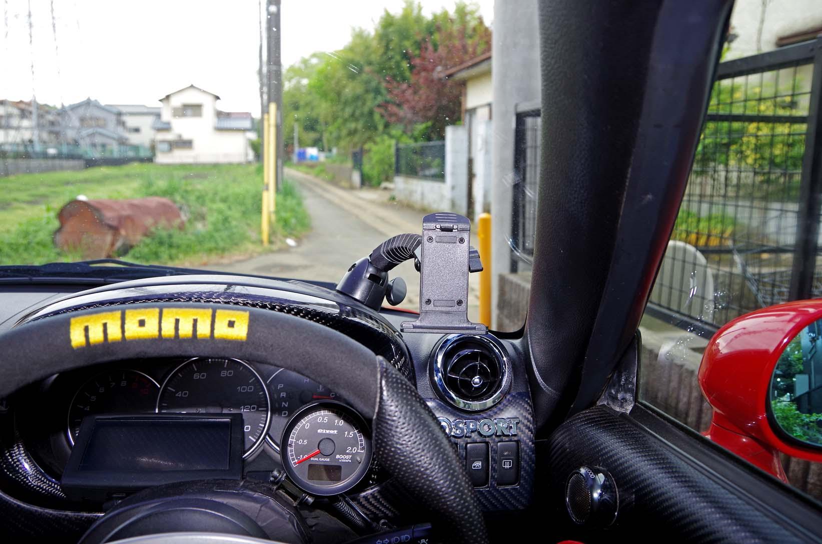 モバイクス 車載用取付スタンド 両面テープ貼付タイプ