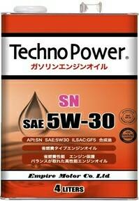 エンパイヤ自動車 techno power テクノパワー 5W 30