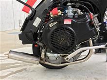 Star deluxe 4S 200ccTASSO Stainless Race Exhaust LML 4T 200 RH V4の全体画像