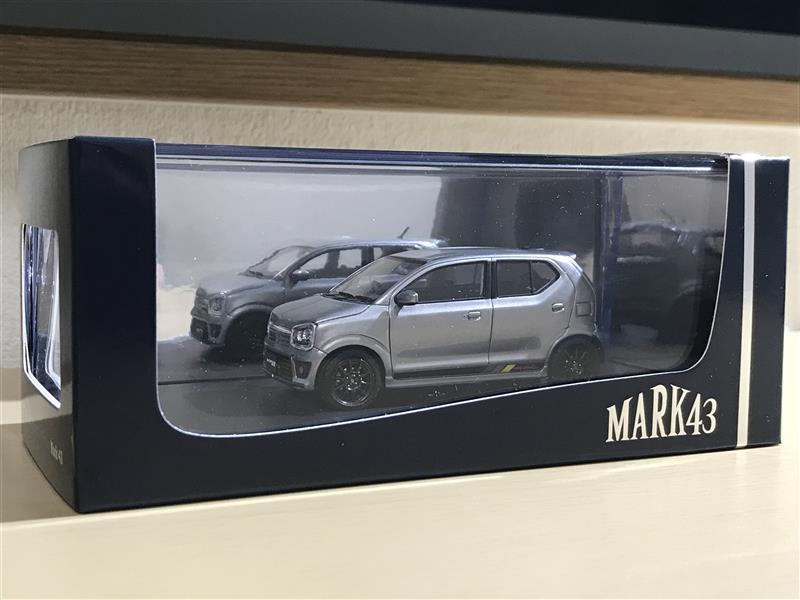 ホビージャパン MARK43 1/43 スズキ アルトワークス (HA36S) スチールシルバーメタリック