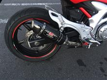 グラディウス400 ABSヨシムラ Slip-On R-77Sサイクロン EXPORT SPECの単体画像