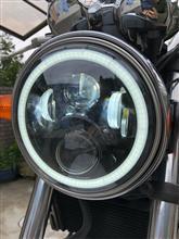 ホーネット250OVOTOR 7インチLEDヘッドライト イカリング付の単体画像