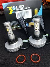 デリカD:5MOTOSTAR LEDヘッドライト HB3/HB4 4400LM 60W ファンレス 12V/24V兼用 CREE XML2素子/アルミヒートシンク搭載の単体画像