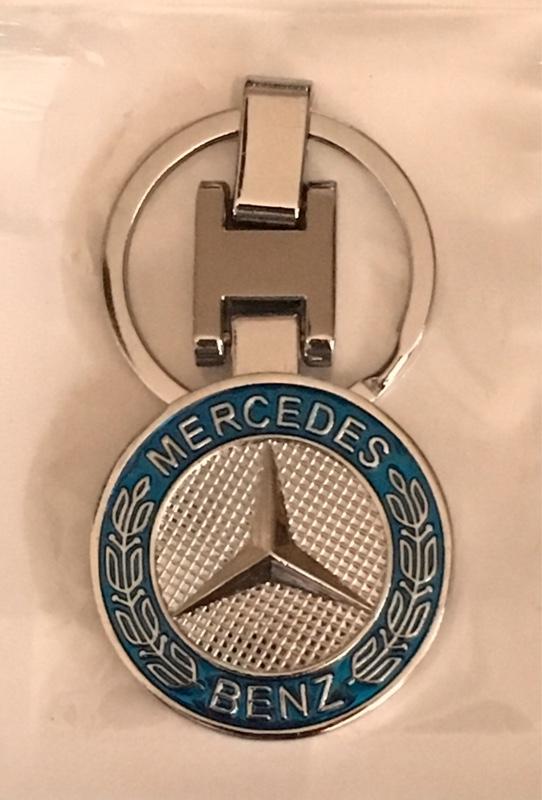 不明 メルセデスベンツ ロゴキーホルダー キーリング 両面デザイン