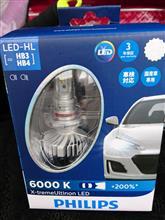 ヴォクシーG'sPHILIPS X-treme Ultinon LED HB3/4 LED Headlight 6000Kの単体画像