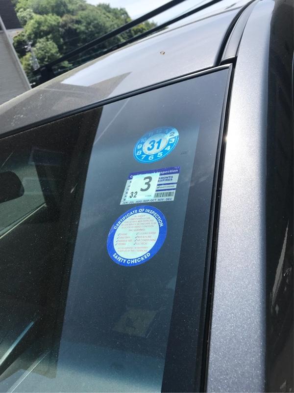 アメリカ製 車検点検ステッカー