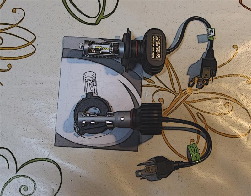 不明 LED ヘッドライトバルブ H4