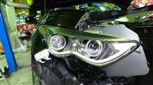 FX35北米日産純正 純正加工ヘッドライトの単体画像