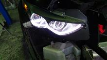 FX35北米日産純正 純正加工ヘッドライトの全体画像