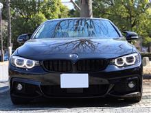 4シリーズ カブリオレBMW M PERFORMANCE ブラック キドニー グリルの単体画像