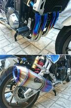 CB1300 SUPER BOL D'OR (スーパーボルドール)アールズギア ワイバンリアルスペック シングル(チタンドラッグブルー)の全体画像