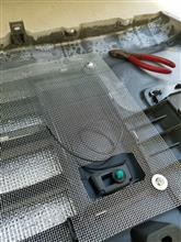 NV100クリッパー リオ自作 アルミメッシュの全体画像