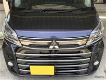 eKスペースカスタム三菱自動車(純正) フロントグリル(ダーククロームメッキ)の単体画像