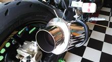 Z750RAKRAPOVIC スリップオンサイレンサーの単体画像