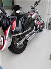 ドラッグスタークラシック400KENTEC ローライダー2inマフラー 90Фの単体画像