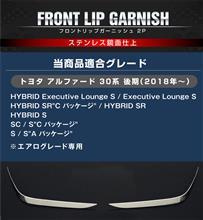 アルファードSAMURAI PRODUCE アルファード30系 後期 フロントリップ ガーニッシュ サイド装着タイプ 鏡面仕上げ 2P エアログレード専用の全体画像