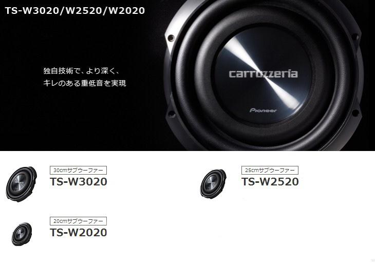 PIONEER / carrozzeria TS-W2520