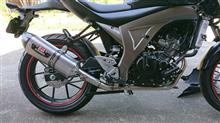 GSX-S125 ABSヨシムラ 機械曲R-77S サイクロン カーボンエンド EXPORT SPEC STCの全体画像