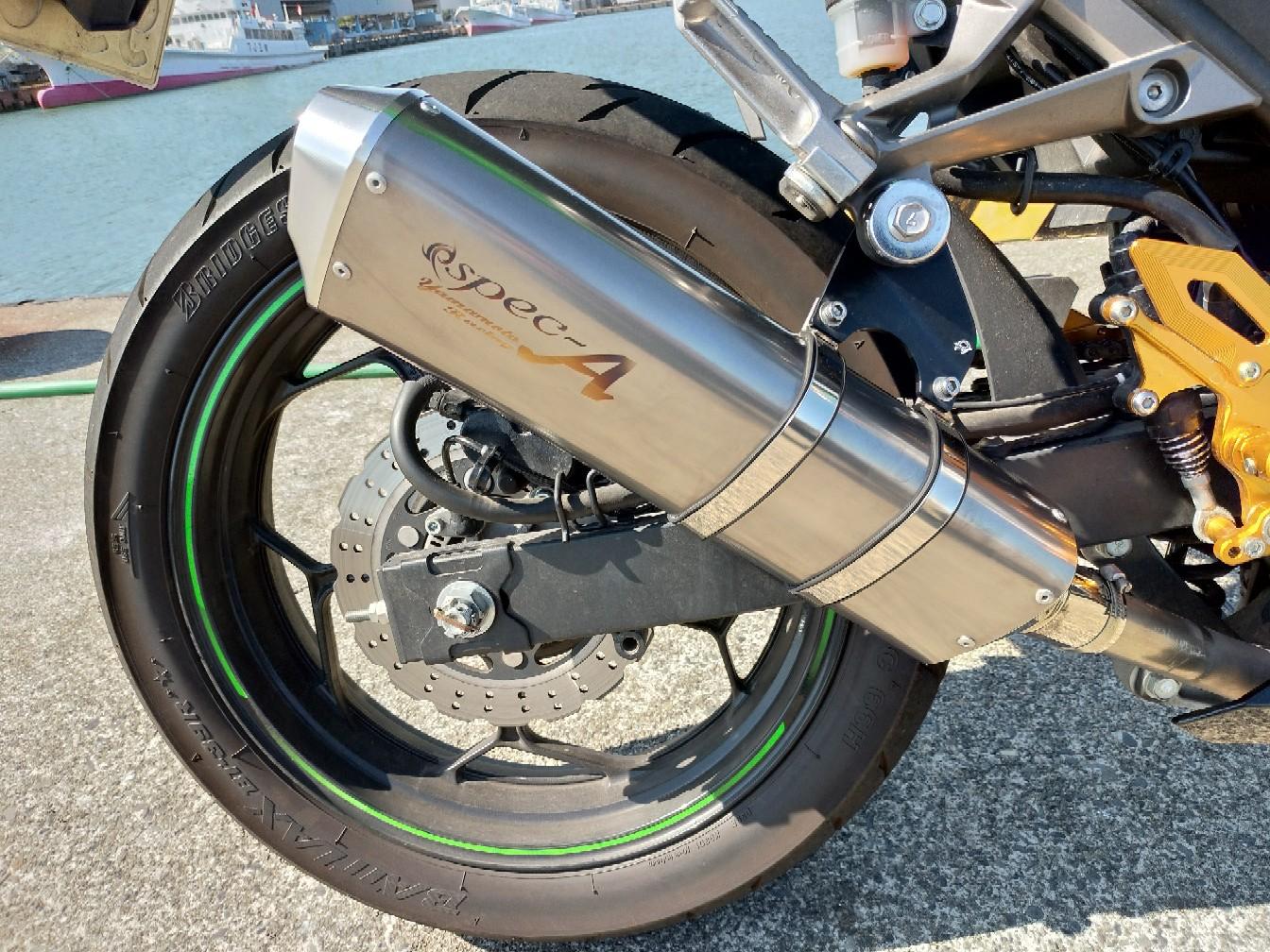 ヤマモトレーシング Ninja250 SUS SLIP-ON TYPE-S