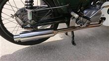スーパーカブ50水本レーシング スーパーミドルマフラーの単体画像