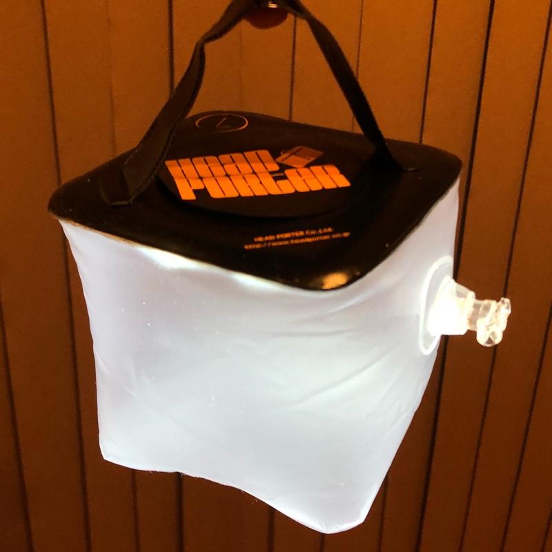 HEAD PORTER (雑誌スマート特注) LEDランタン (ブラック× オレンジ)