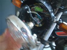 RG50ERTD 直流交流兼用バイクLEDヘッドライトの全体画像