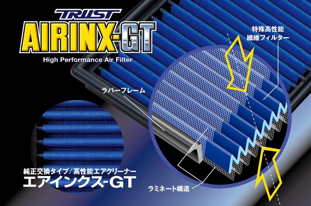 TRUST AIRINX GT 純正交換タイプ エアクリーナー MZ-8GT