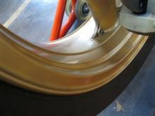 ZRX1200Sエムエスセーリング施工 ホイール ウレタン塗装の全体画像