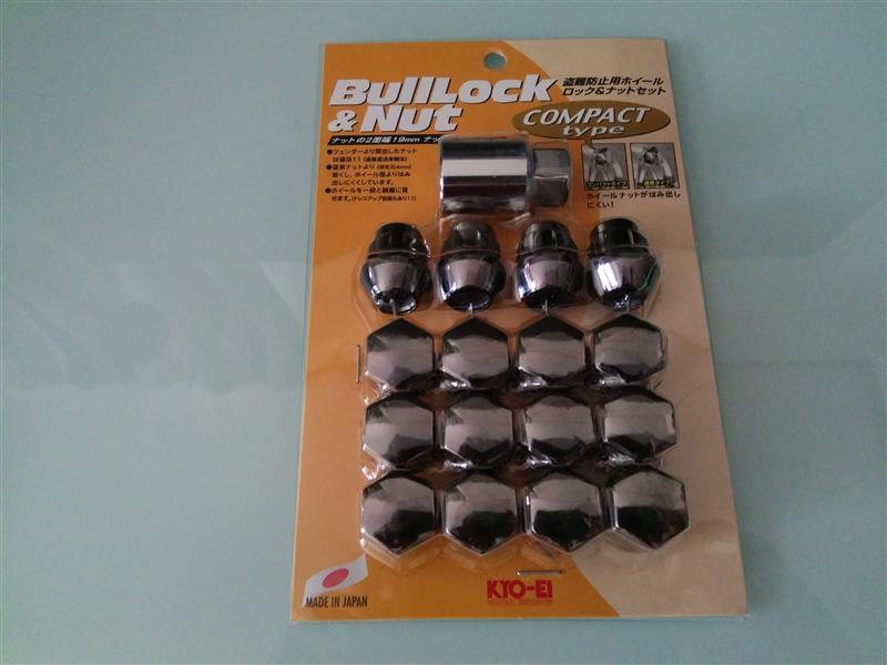 KYO-EI / 協永産業 Bull Lock ブルロック&ナット 19HEX・4HOLE車(ブラック)