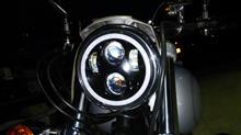 ダイナ ローライダー不明 5.75インチ LEDプロジェクター RGBイカリングの単体画像