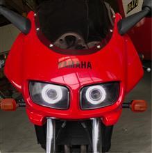 FZ400自作 プロジェクターヘッドライトの単体画像