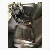HCMAX HCMAX 車用 シートカバーセットカバー 座布団 シートクッション 座席シート 3枚組 カー用品 カーシートPUレザー 前座席用2枚+後部座席用1枚